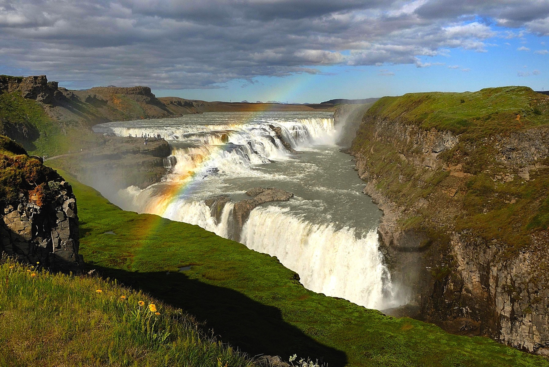 The most photographed waterfall in Iceland, Gullfoss