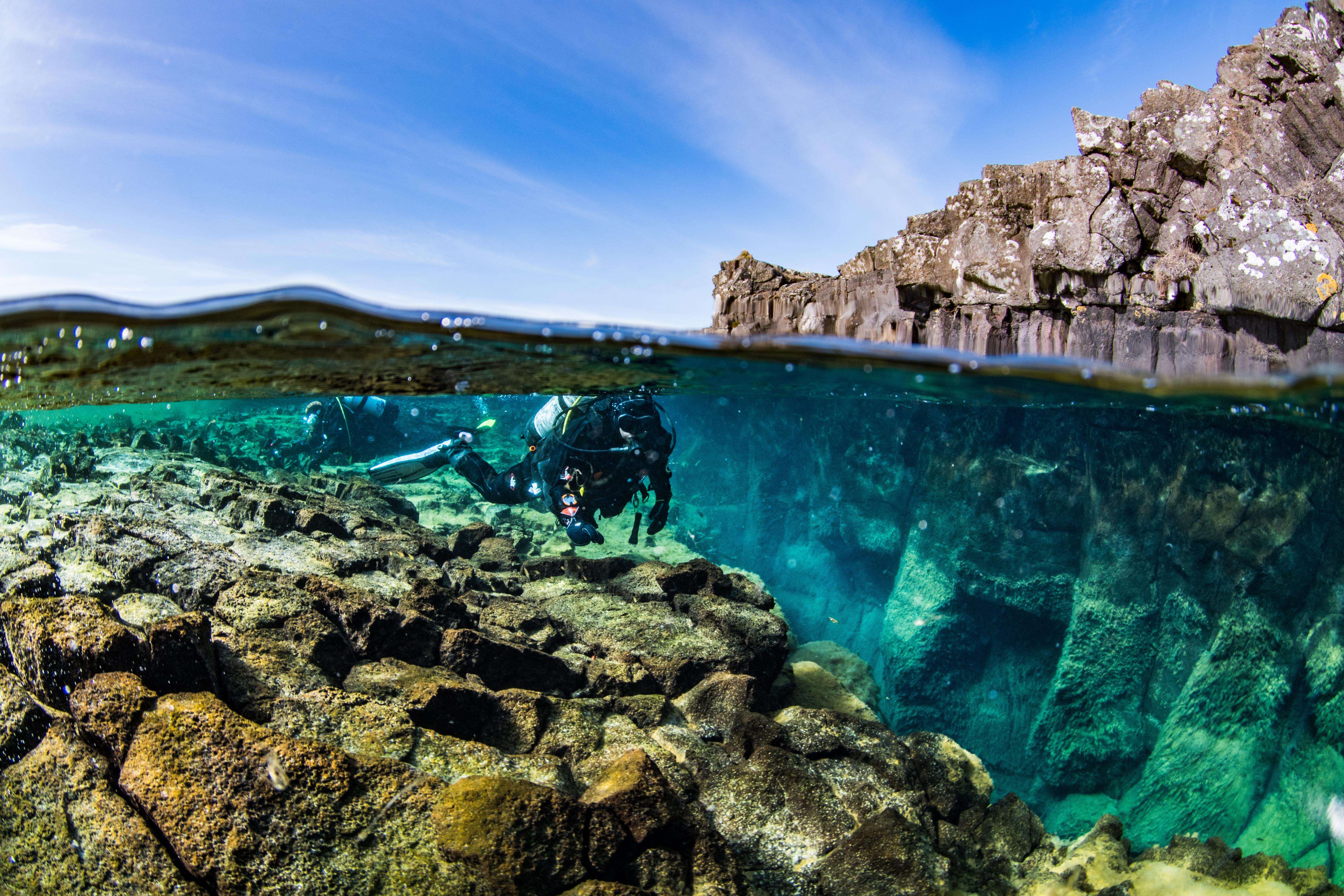 Splits Diver In Bjarnagja By Anders Nyberg