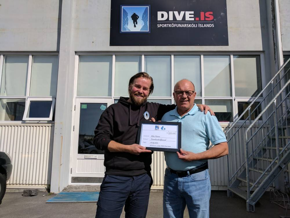 DIVE.IS general manager and the founder of the Blue Army, Tómas Knútsson
