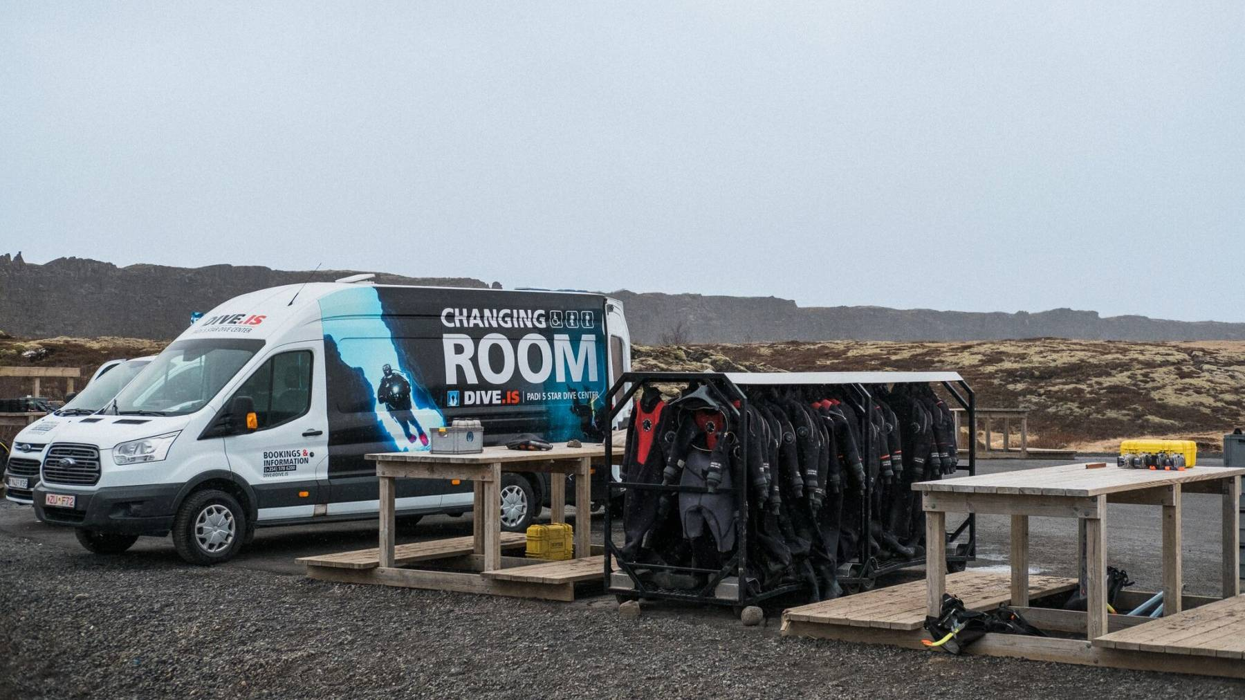 Changing Room at Silfra, Iceland