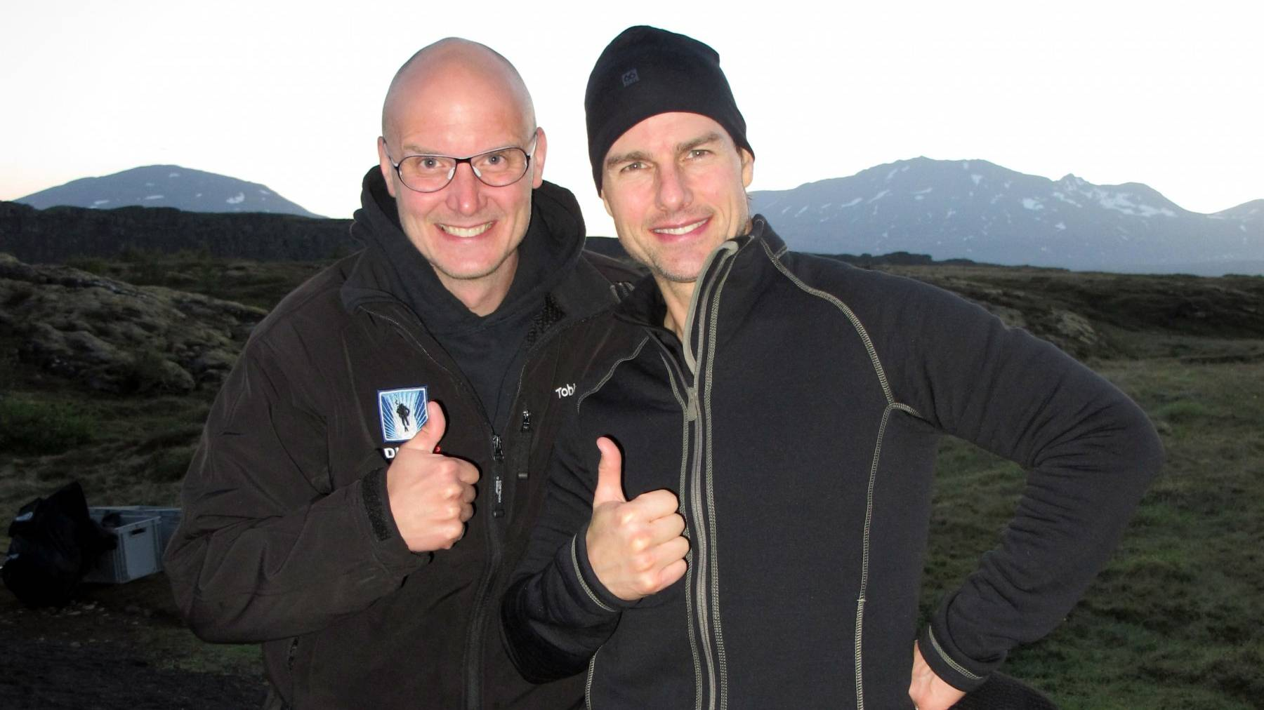 Tom cruise on a private dive tour in Silfra with DIVE.IS